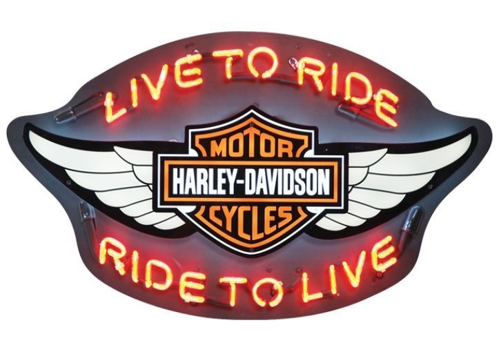 Harley Davidson 174 Winged Bar Amp Shield Quot Ltr Rtl Quot Neon Wall
