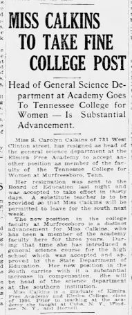 Tennessee College for Women 25 Sep 1918