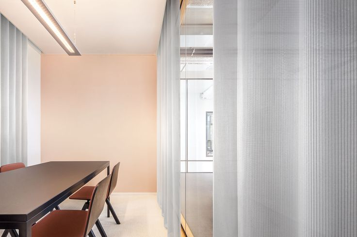 Vescom - transparent acoustic curtain fabric - carmen