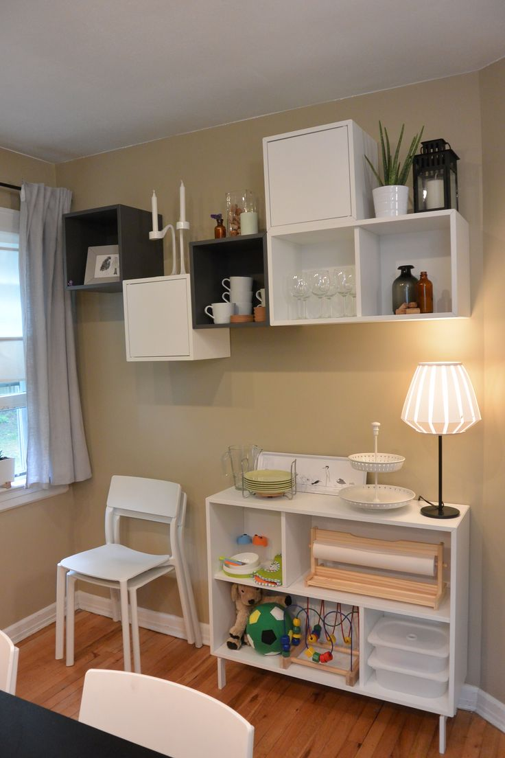 Ikea dining room storage - Need Space The Ikea Valje Wall Cabinets And Sideboard Is A Smart Storage Solution That