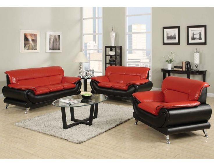Acme Furniture   Orel 2 Piece Sofa Set In Red/Black