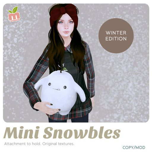 *MishMish* Mini Snowbles http://maps.secondlife.com/secondlife/Dream%20Beach/157/166/1998