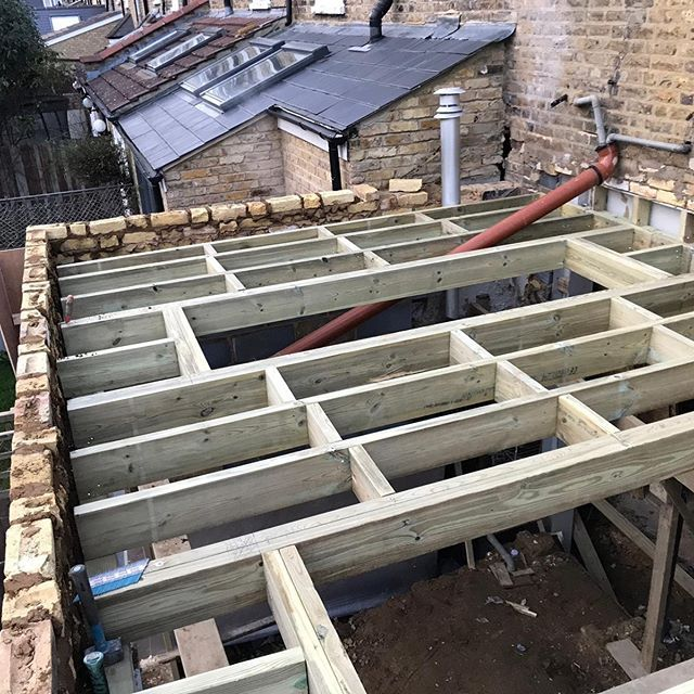 Timber Flat Roof Complete On Our Project In Twickenham Flat Roof Extension Flat Roof Pergola On The Roof