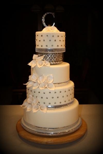 Bling Wedding Cake By debidehm on CakeCentral.com: Bling Tacular, Cake Wedding, Cake Stuff, Add Purple, Bling Wedding Cakes, Cake Ideas, Cake Lov, Cake Decor, Bling Cake