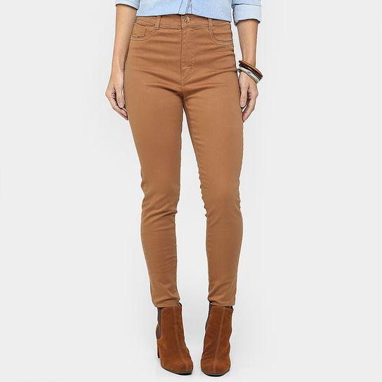 Calça Sawary Legging Hot Pants Sarja - Caramelo