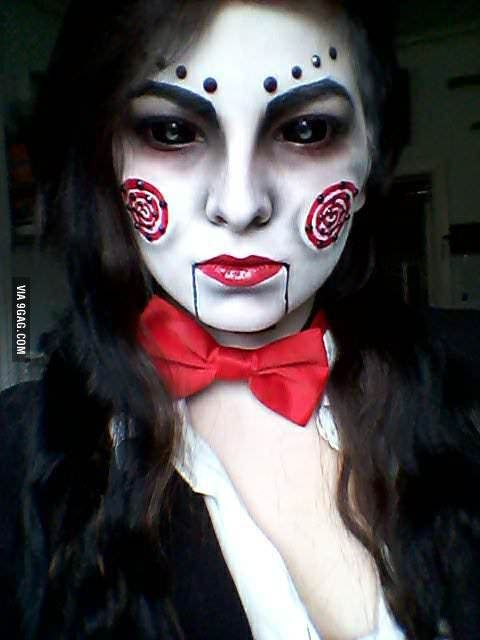 Cosplay, Halloween Costumes, Costume Ideas, Halloween Makeup, Jigsaw ...