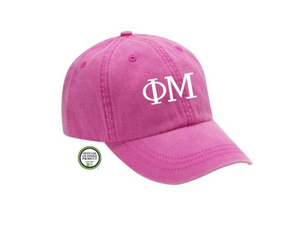 View our other Phi Mu products<<< https://www.etsy.com/shop/SweetPeas955?ref=l2-shopheader-name&search_query=Phi%2BMu  -This is an Officially Licensed Greek Product. -100% cotton -Embroidered Greek Letters -low profile cap features mesh lining -high quality leather scrap -Bulk discount available! Message me for details    NOTE: Due to different computer monitors colors may vary  Any questions please message before ordering. :)