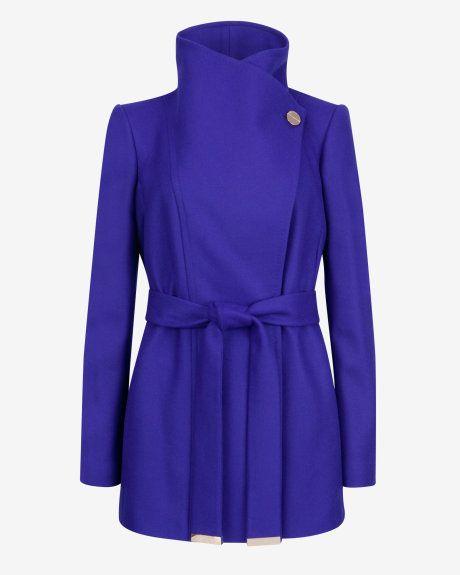 Short wrap coat - Blue   Jackets & Coats   Ted Baker