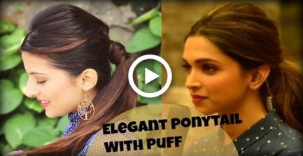 EASY Everyday Elegant Ponytail Hairstyle With Full Puff For College, Work, Party /