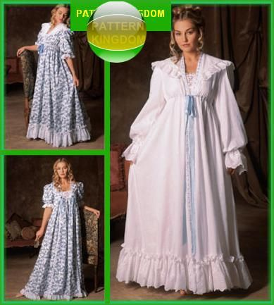 Simplicity 5188 1900s Victorian Nightgown & Robe Patterns