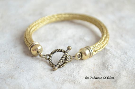 Bracelet viking or vieilli et fermoir toogle