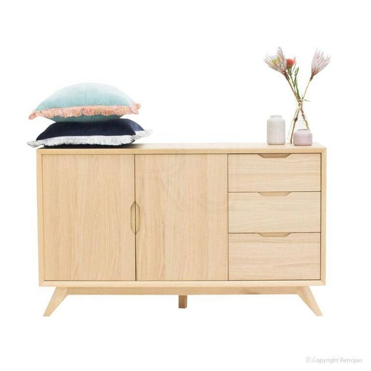 Palemo Contemporary Wide Oak Sideboard