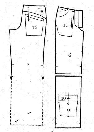 Выкройка мужских спортивных брюки
