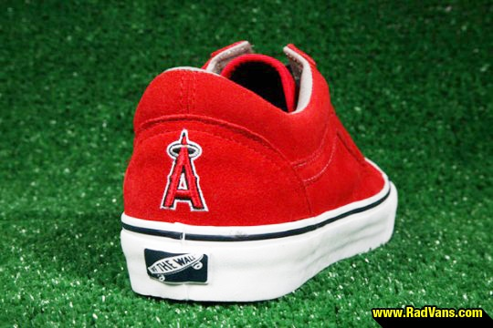 I NEED to get these!!!!! angels baseball shoe - Vans knows what's up!!! Go Halos!!