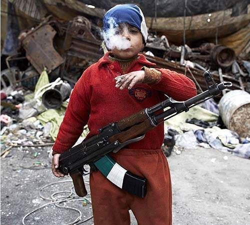 This 7-year-old Syrian rebel is already fighting for his beliefs.