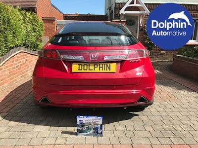 Red Rear Parking Sensors Fitted on to 2011 Honda Civic #parkingsensors #red #hondacivic #honda #dolphinautomotive