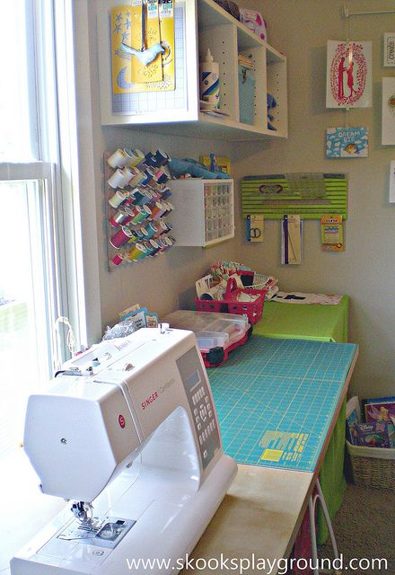 craft room...I want my sewing machine by a window.