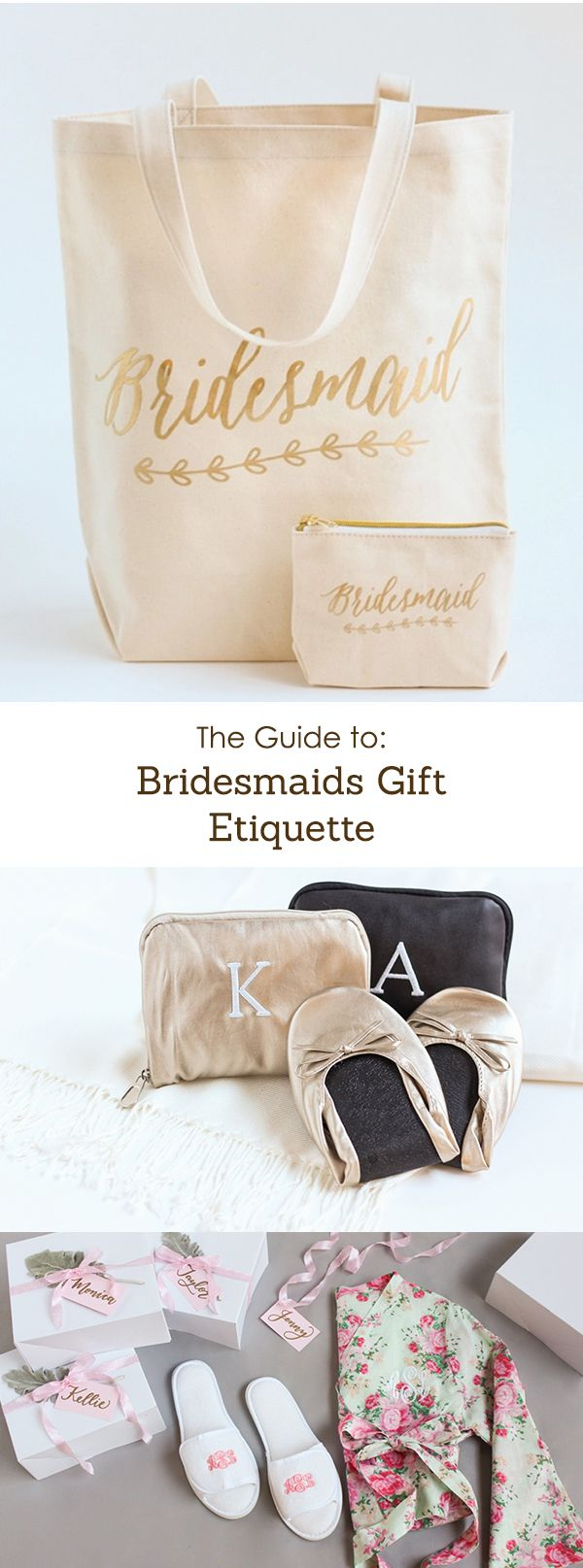 The guide to finding, purchasing, wrapping, and giving a bridesmaid gift she will love.