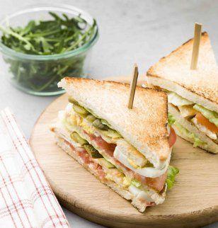 Food Inspiration  Club sandwich royal au poulet