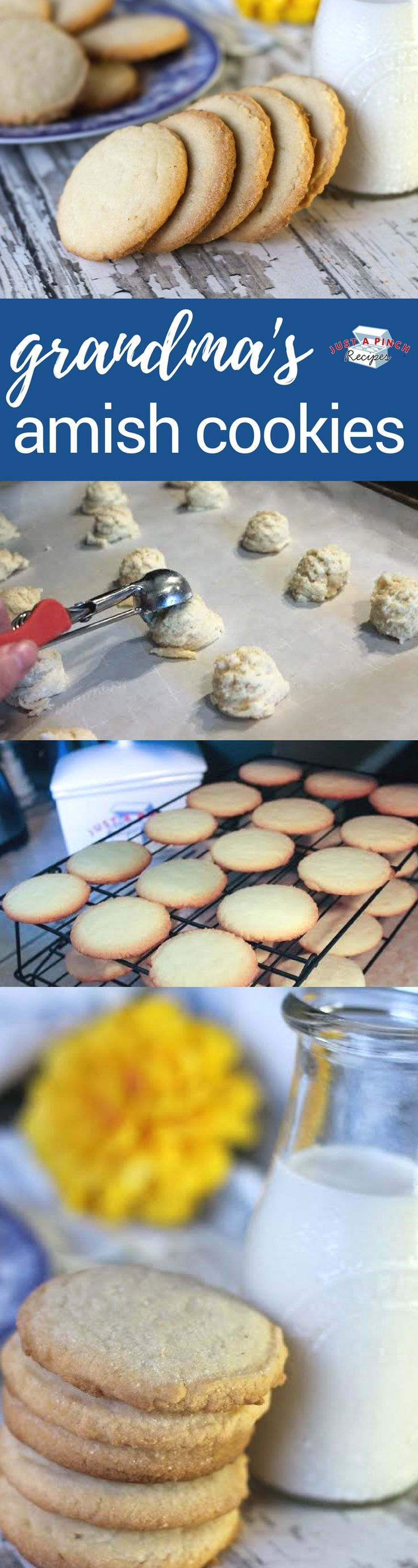 Easy amish cookies recipe that's just like grandma's cookies! #cookies #amishrecipes #CookieRecipe