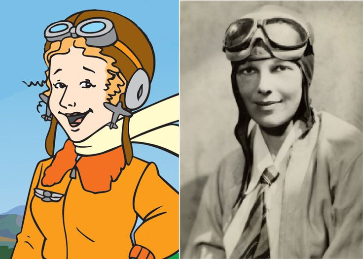 "Today we celebrate Amelia Earhart's birthday! Amelia Earhart was the first female pilot to fly solo across the Atlantic Ocean. Watch ""The Magic School Bus: Taking Flight"" to learn more about airplanes, in honor of Amelia!"