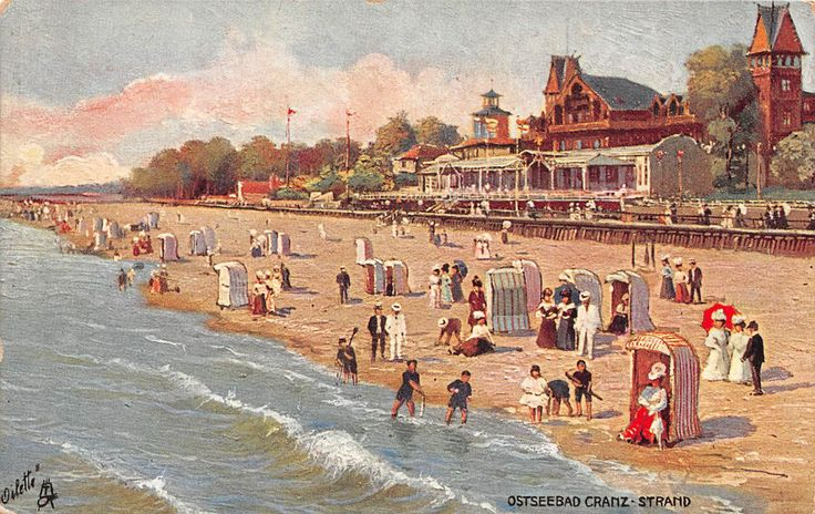 Ostseebad Cranz-Strand, Ostpr. Königsberg, Postkarte