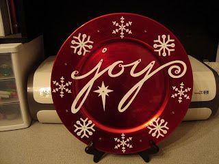 Dextermoe's Craft Blog: Joy Charger Plate