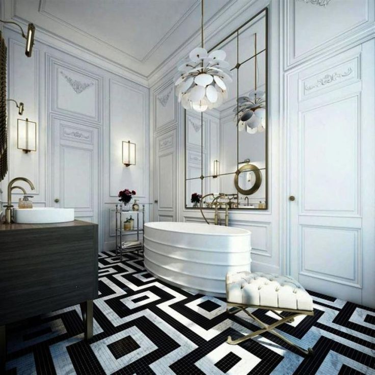 Luxury Bathroom Ideas 12 whitetiledbathroom in 2020