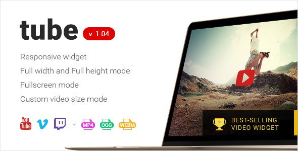 Tube - Responsive Adobe Muse Video Widget . Tube — is a powerful responsive video widget for Adobe Muse CC 15.2+, based on MuCow format