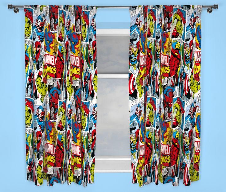 Marvel Comics Justice 72 Inch Drop Curtains | Kids room ideas ...