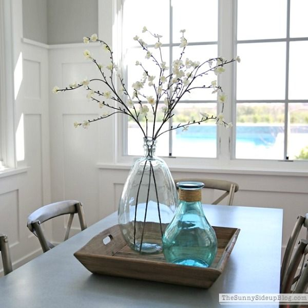 Best 25 kitchen table centerpieces ideas on pinterest for Long dining room table decor