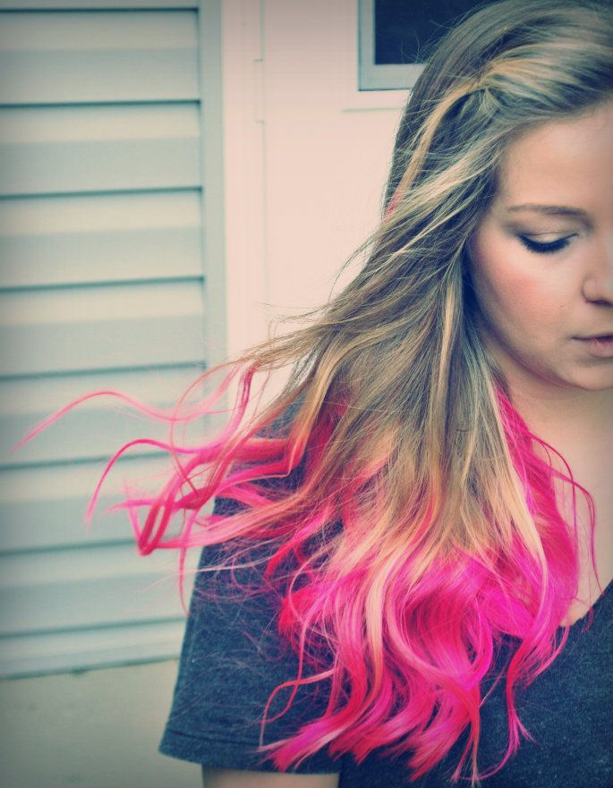 """Dip"" Dyed Hair. Get fun colored hair at home... if you are"
