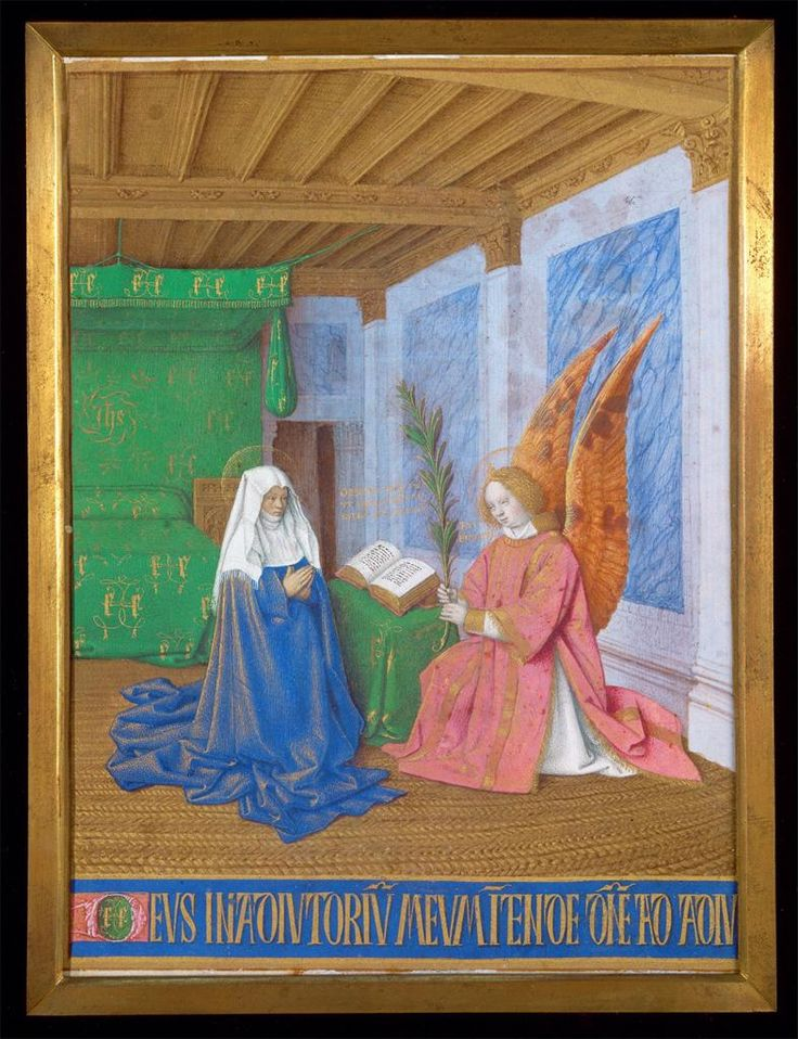 Jean Fouquet, Annunciation of the Virgin Mary's Approaching Death