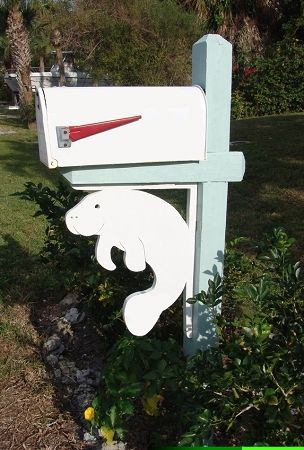 Manatee Tropical Mailbox Bracket