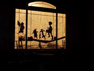 window silhouettes of winnie the pooh