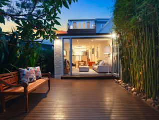 Contemporary design, ultra modern functionality, sophistication, Balinese-inspired rear deck, 4 Piper Street, Annandale