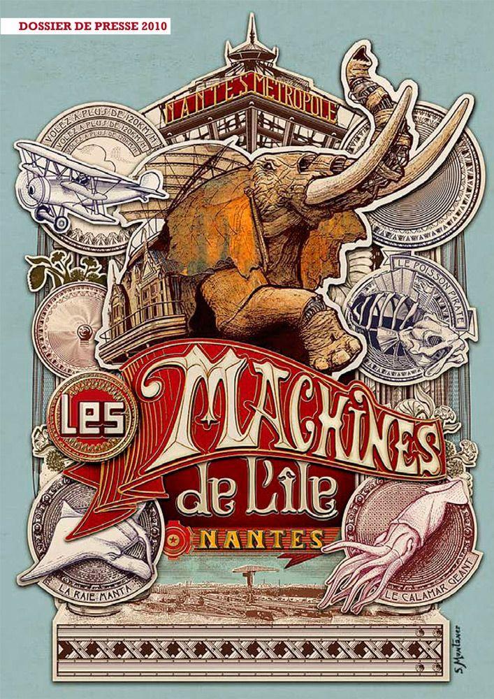 Nantaise: Collection de posters des Machines de l'Ile
