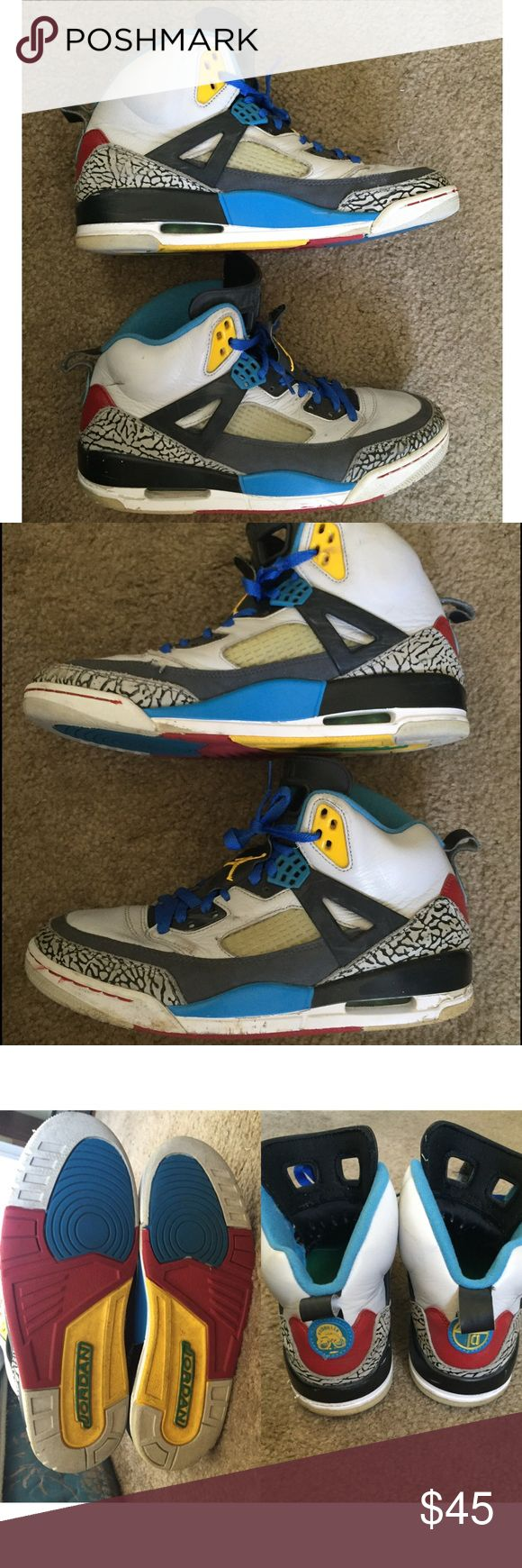 Jordan spizike Bordeaux Jordan spizike Bordeaux. There's creasing and it's a little dirty. Also some paint are off in some areas like next to the air unit as you can see in the pictures. Jordan Shoes Sneakers