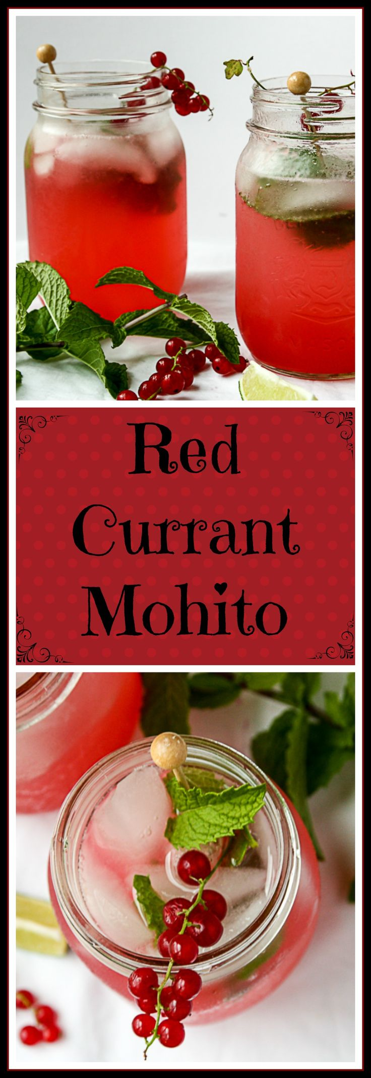 This festive twist on a classic Mohito uses currants, but you can also use cranberries or pomegranates, too.