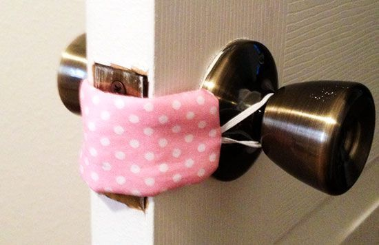 Don't wake up baby just as you leave and close the door to their room! Easy sew to a quieter nursery room door.