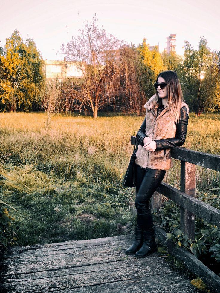 #ootd #leather #fur #sun #autumn