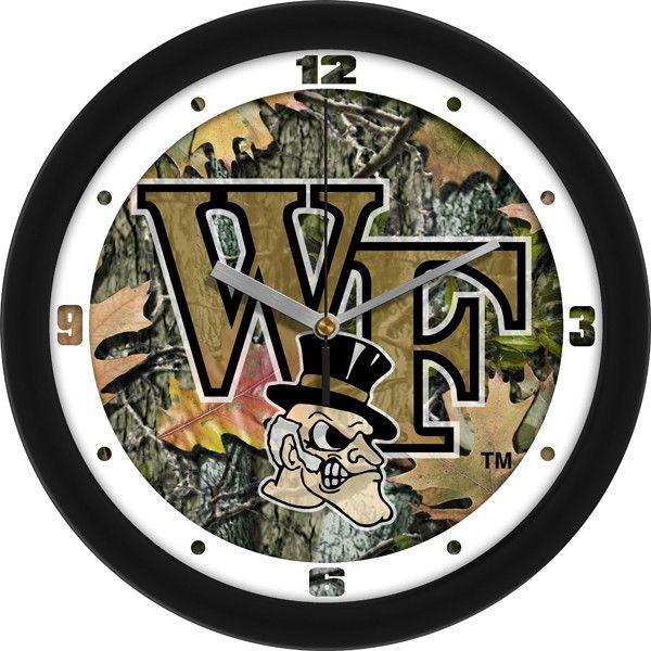 Mens Wake Forest Demon Deacons - Camo Wall Clock