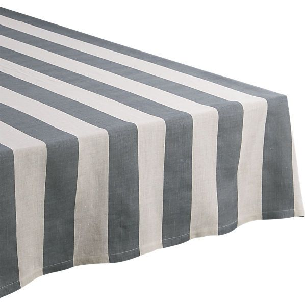 pipeline grey tablecloth    CB2