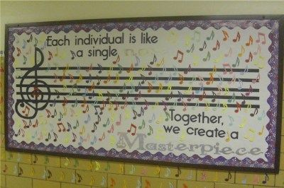 Each individual is like a note. Together, we create a Masterpiece. Great bulletin board!
