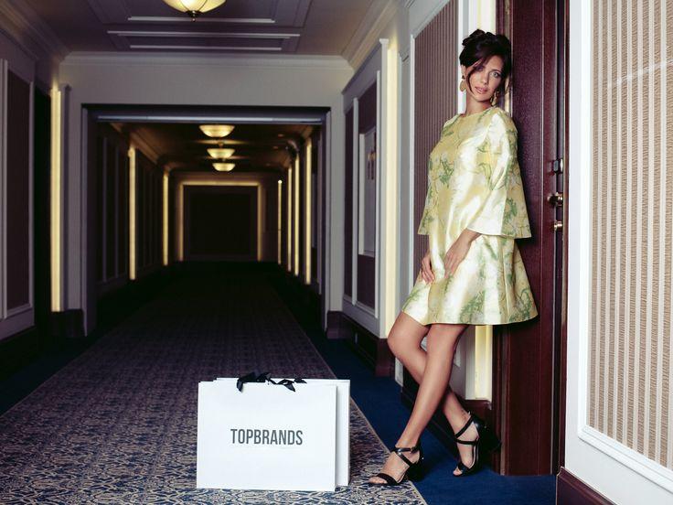 Эксклюзивно для TOPBRANDS Екатерина Климова в платье A la Russe #topbrands #alarusse #екатеринаклимова
