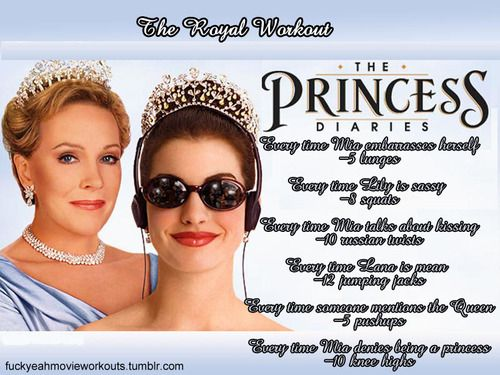 The Princess Diaries Workout!  Want to see more workouts like this one? Follow us here.