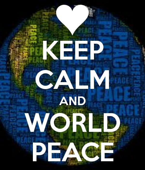 ☮ American Hippie Art ☮  KEEP CALM AND WORLD PEACE -