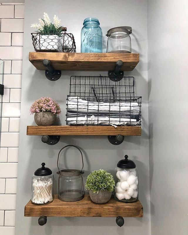 Most Recent No Cost Bathroom Shelves Baskets Tips Storage Devices Inside Of A Toilet Continuall In 2020 Rustic Wooden Shelves Vintage Wire Baskets Rustic Wood Shelving