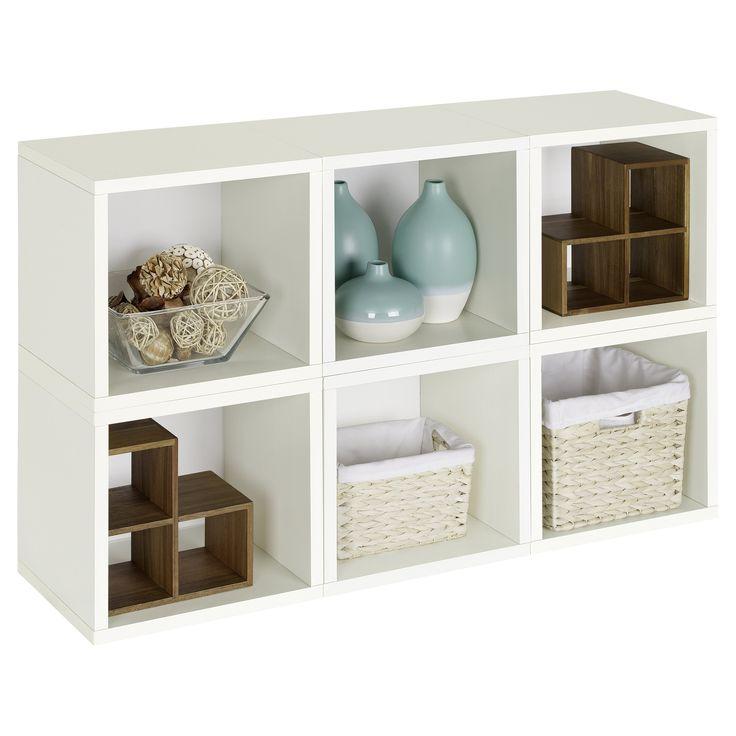 Way Basics Modular 6 Cube Bookcase - PS-MC-6-WE