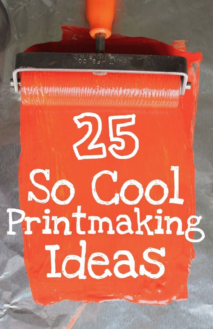 Really cool printmaking ideas